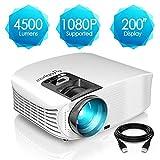 Proyector HD, ELEPHAS 1080P LCD Video proyector Full HD con 4500 lúmenes, Cine en casa con una...